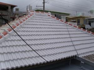 施工事例:浦添市のS様邸・瓦の防水工事